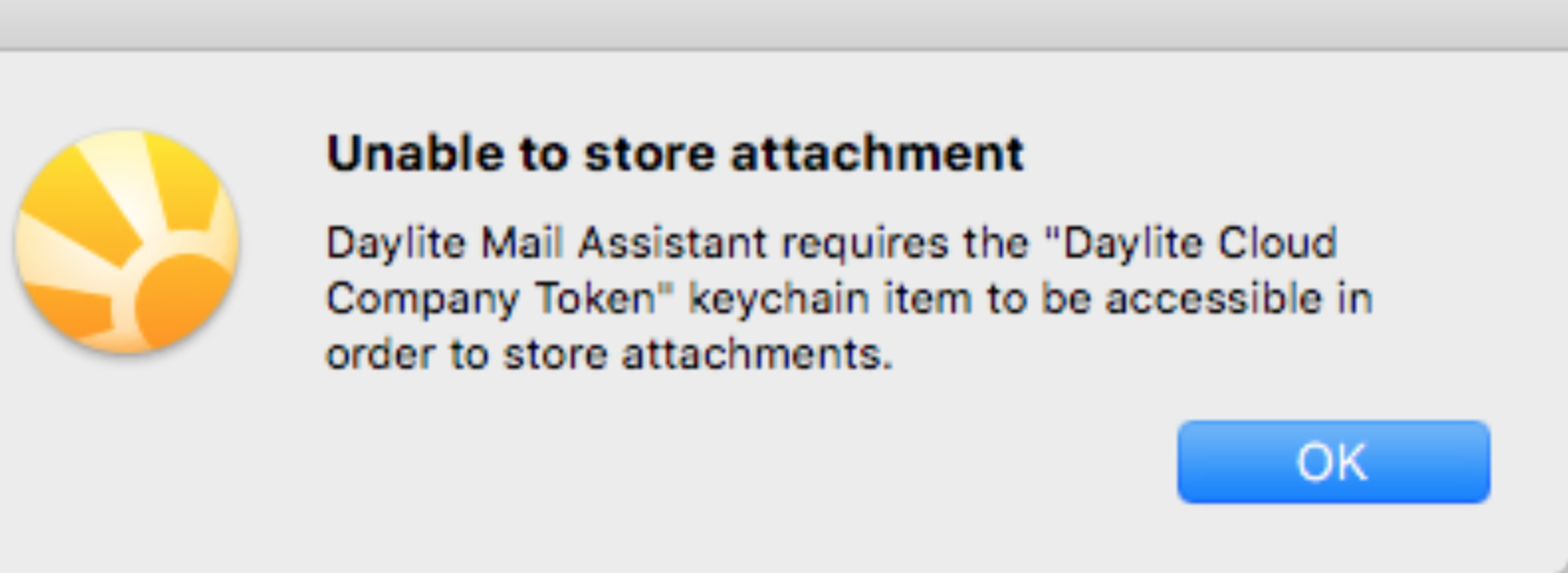 Unable To Store Attachment